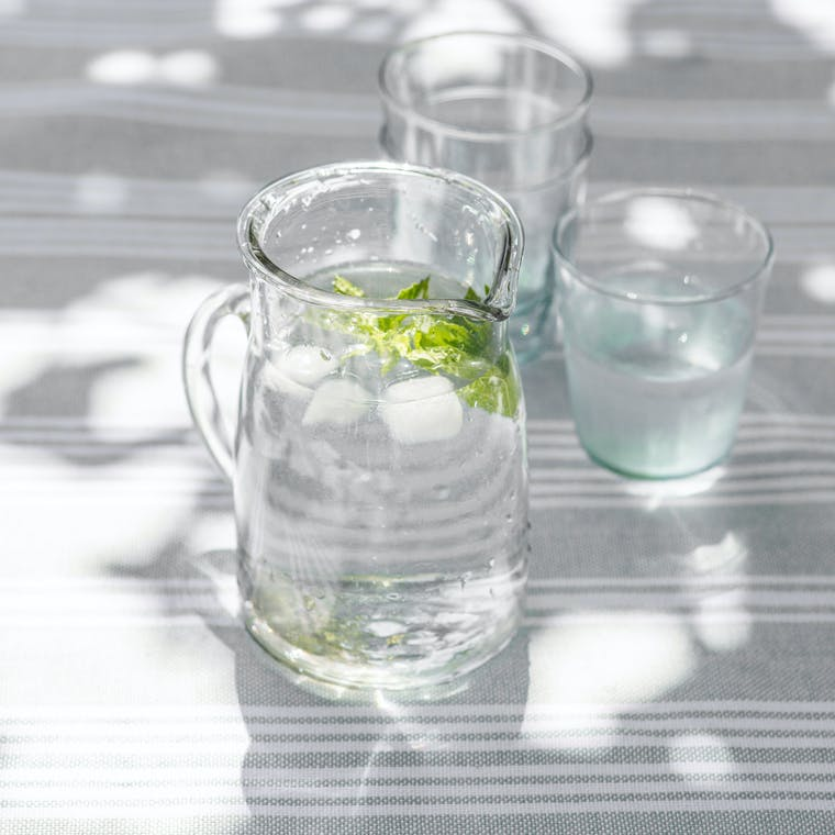 Glass Meze Jug in Small or Large   Garden Trading