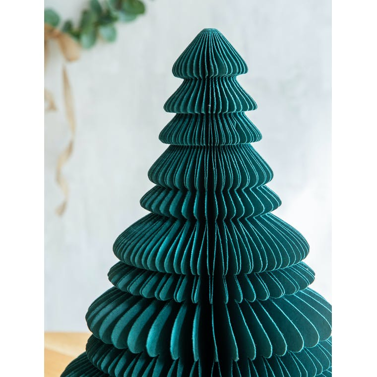 Paper Tree Decoration 45cm in White, Red, Green or Ink - Maddox | Garden Trading