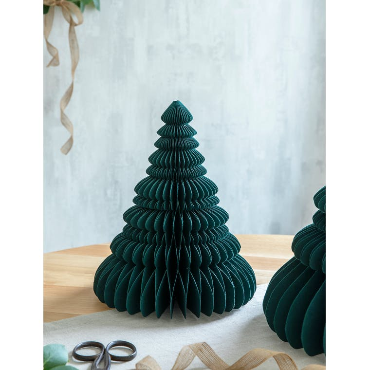 Paper Tree Decoration 31cm in White, Red, Green or Ink - Maddox   Garden Trading