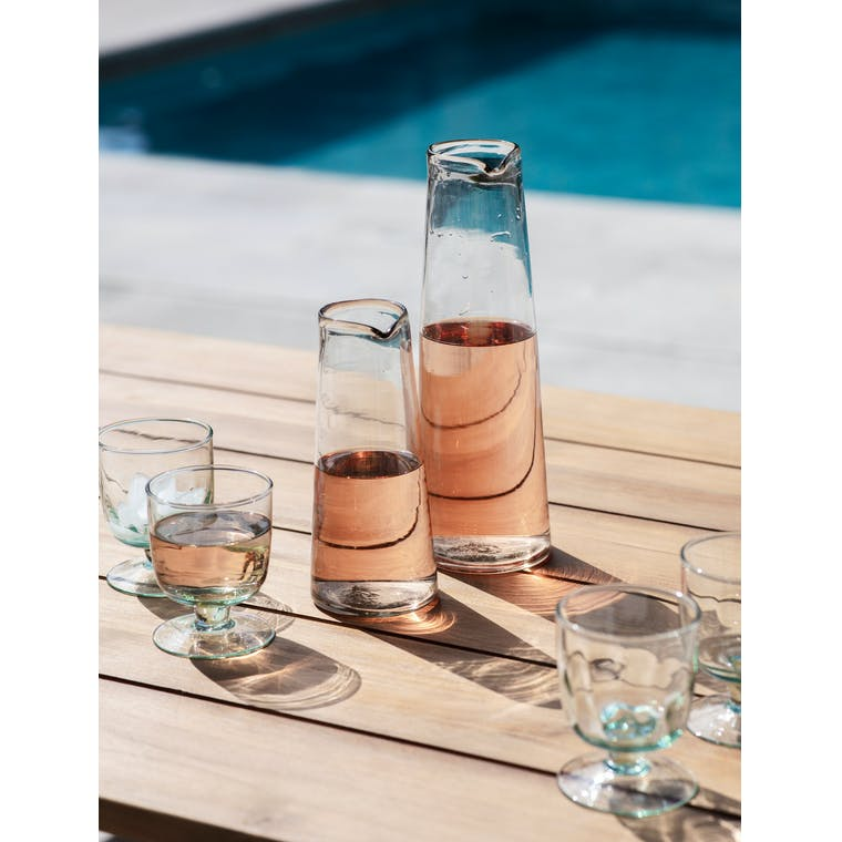 Glass Meze Wine Carafe in Small or Large | Garden Trading