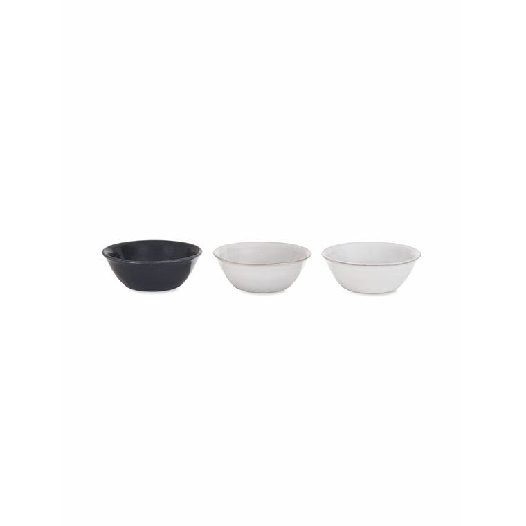 Ceramic Set of 3 Winderton Nibble Bowls in Green or Ink | Garden Trading