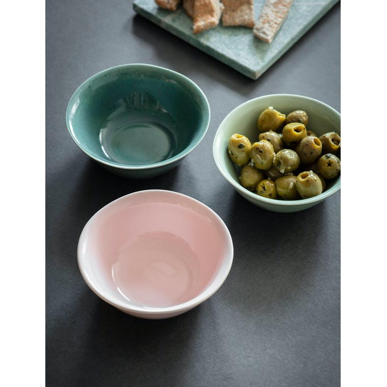 Garden Trading Set of 3 Winderton Nibble Bowls in  Pink Gin & Rosemary - Ceramic