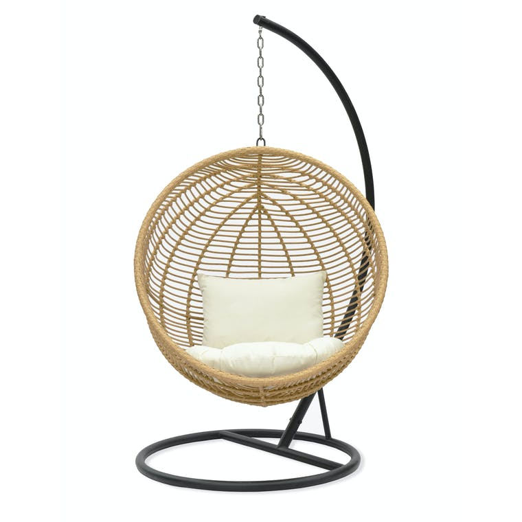 All-weather Bamboo Hampstead Outdoor Hanging Nest Chair | Garden Trading