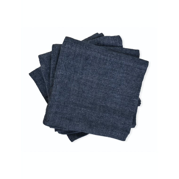 Linen Set of 4 Napkins in Blue | Garden Trading