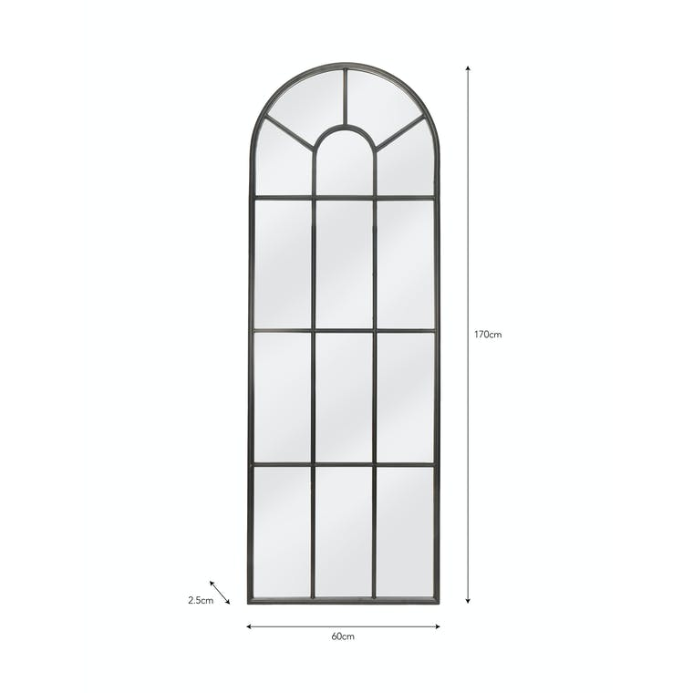 Iron Fulbrook Arched Mirror | Garden Trading
