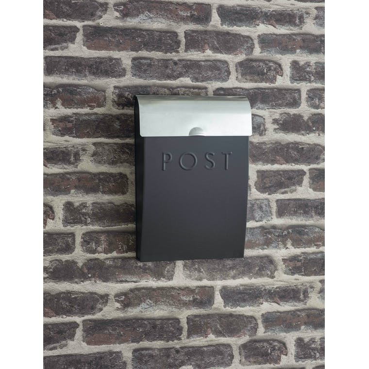 Garden Trading Carbon Post Box with Lock