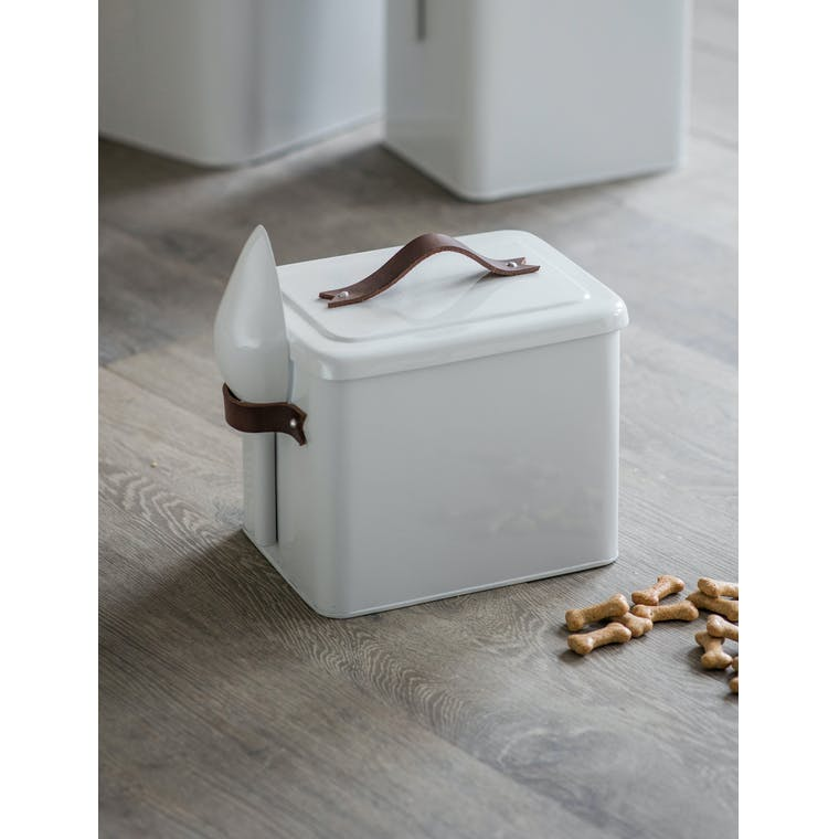 Garden Trading Small Pet Bin with Leather Handle