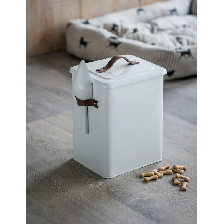 Garden Trading Medium Pet Bin with Leather Handle