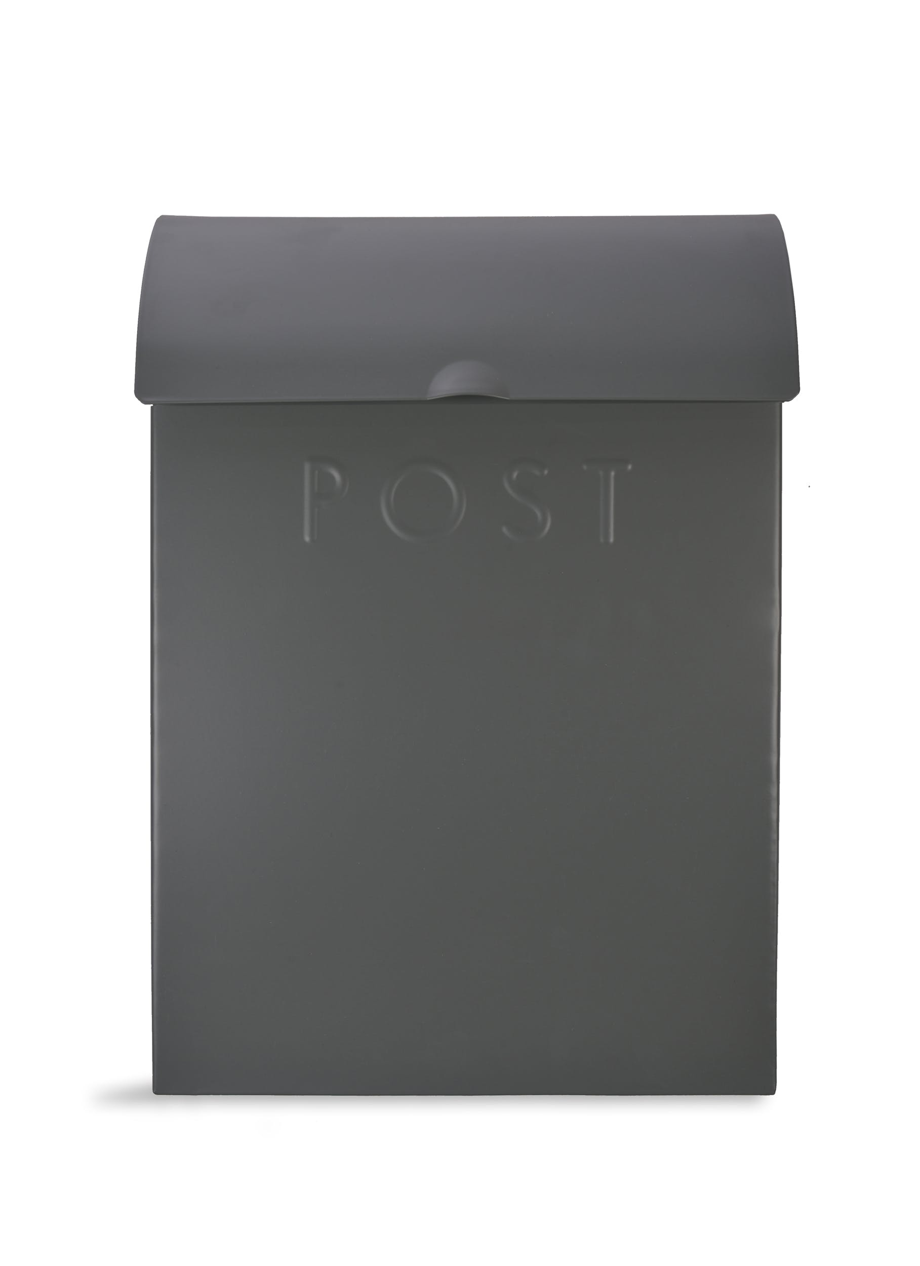 Extra Large Post Box with Lock in Grey   Garden Trading
