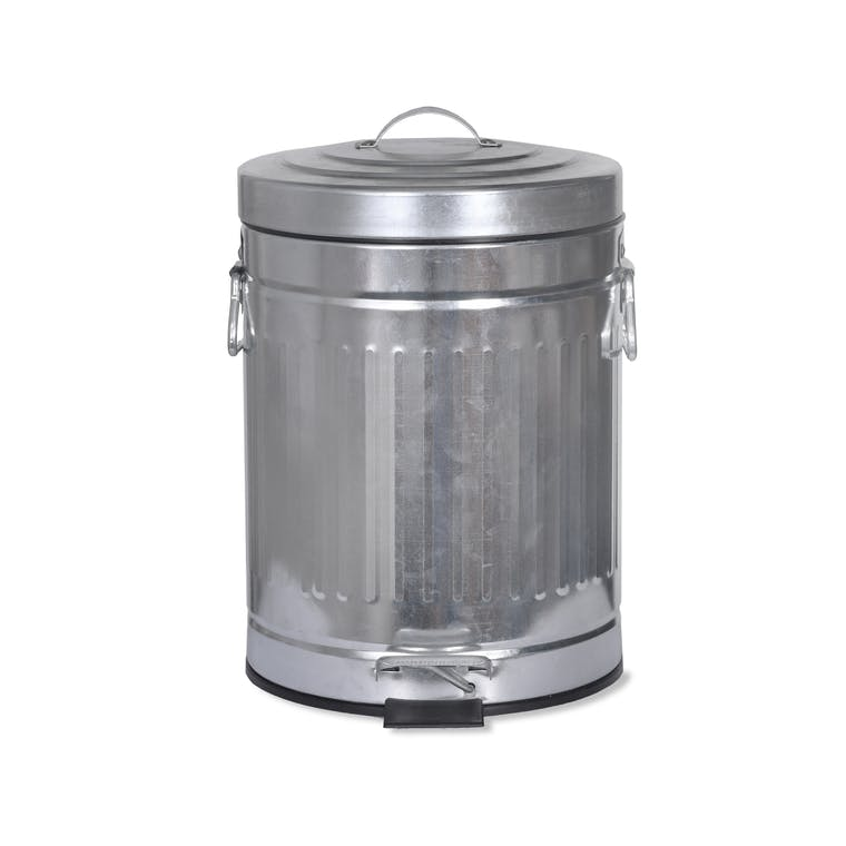 galvanised steel pedal bin in small or large garden trading. Black Bedroom Furniture Sets. Home Design Ideas