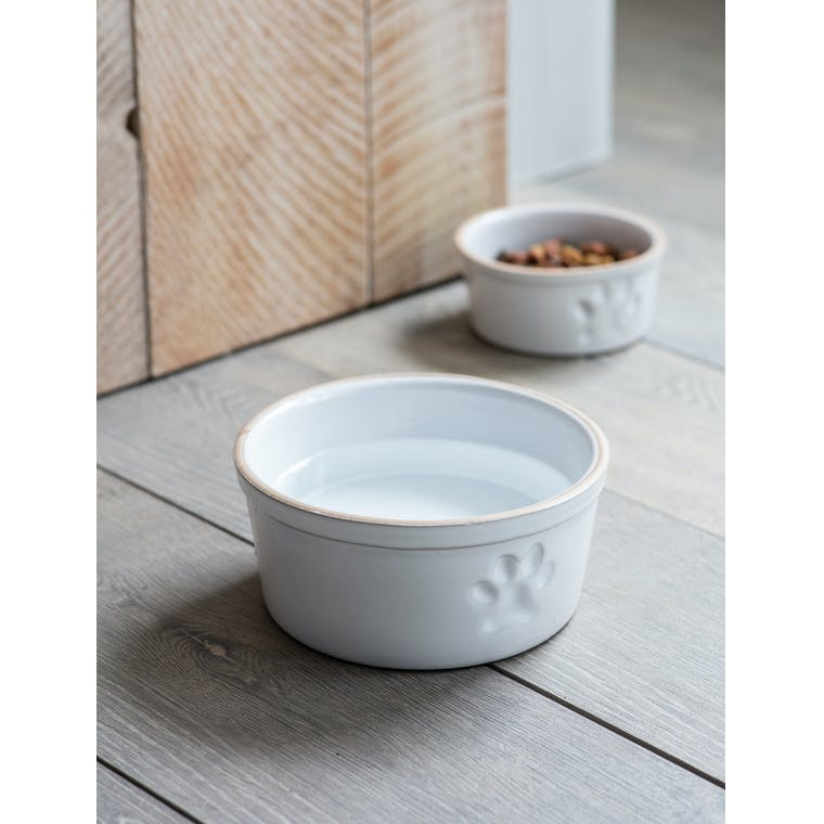 Garden Trading Large Pet Bowl with Paw Print