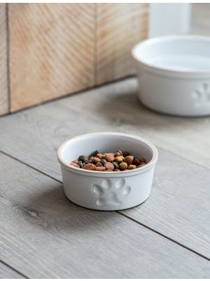 Pet Bowl with Paw Print