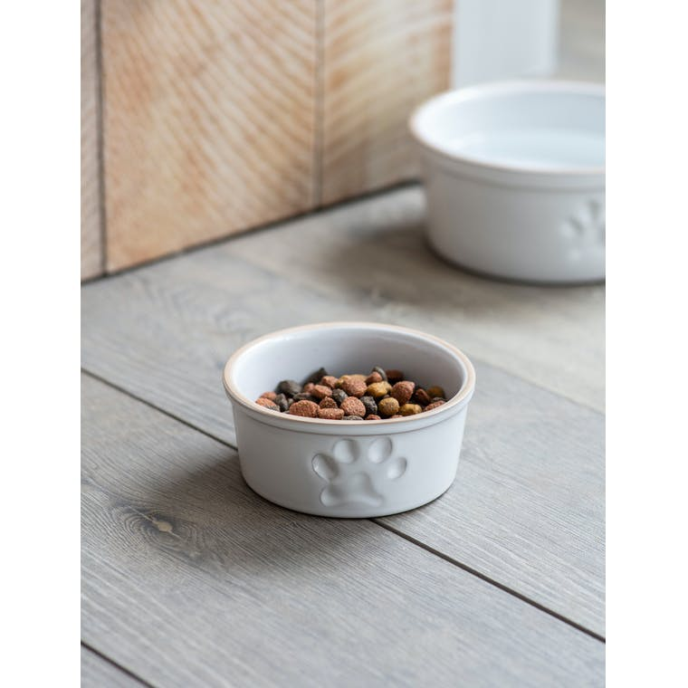 Garden Trading Small Pet Bowl with Paw Print