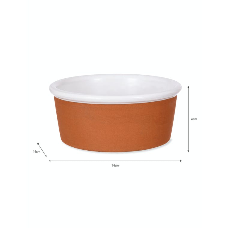 Red Stoneware Kemerton Pet Bowl in Small or Large   Garden Trading