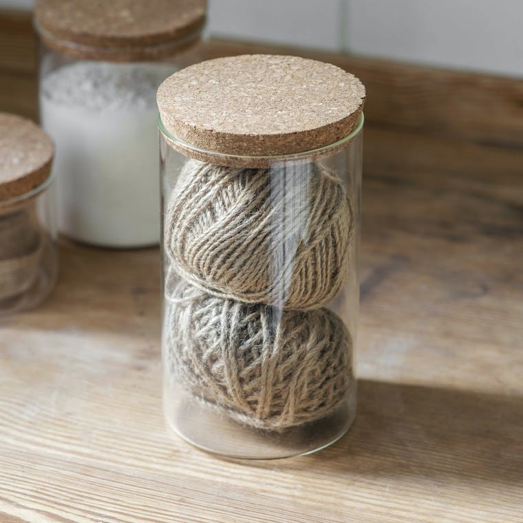 Glass & Cork Provender Jar in Small, Medium or Large | Garden Trading