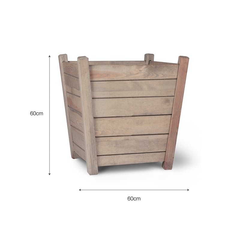 Wooden Kingham Planter in Small or Large  | Garden Trading