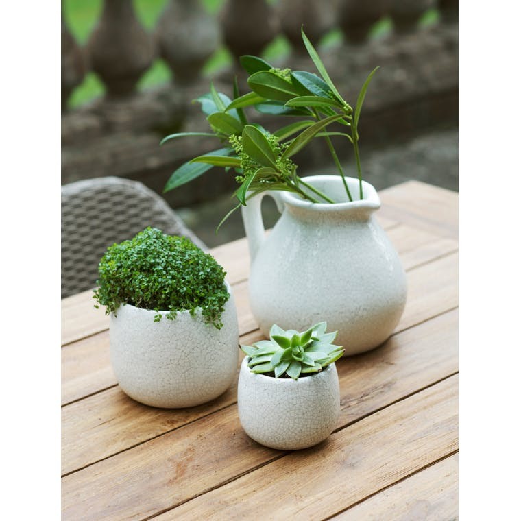Ceramic Ravello Plant Pot in White in Small or Large | Garden Trading