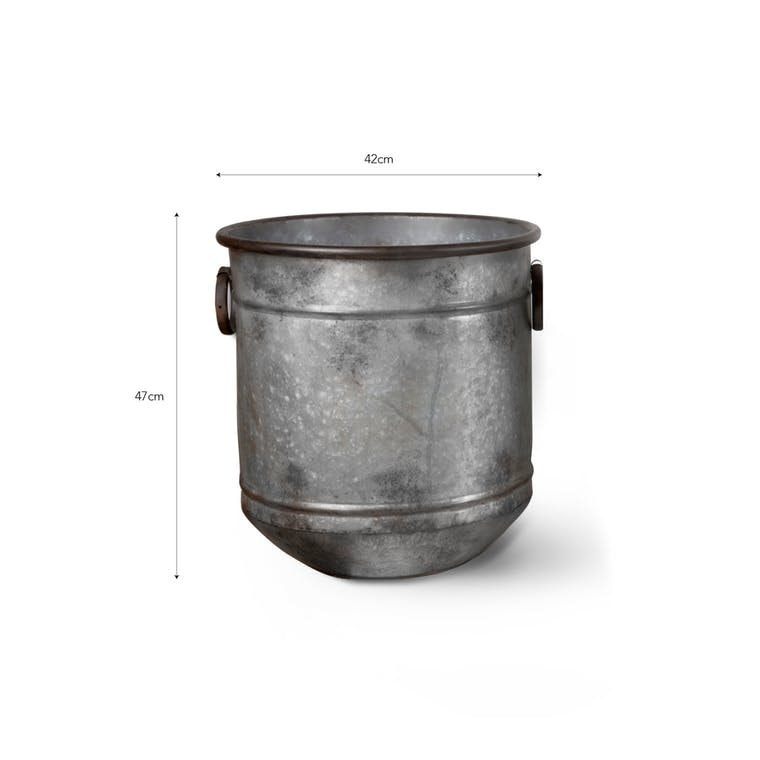 Galvanised Steel Malmesbury Planter in Small, Medium or Large  | Garden Trading