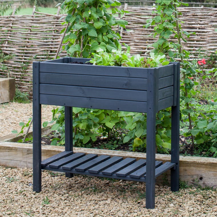 Wooden Latchmere Raised Planter | Garden Trading