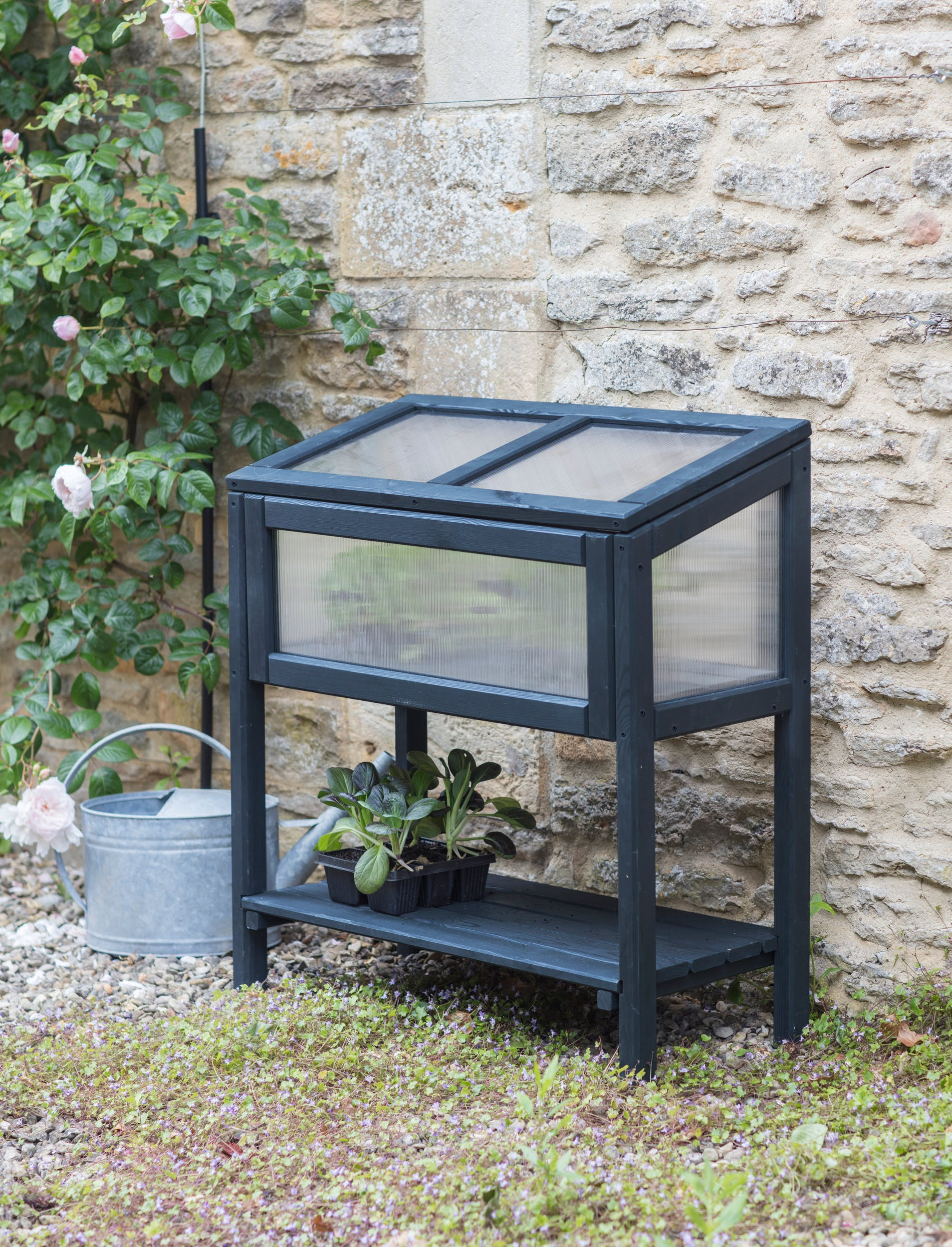 Wooden Latchmere Raised Cold Frame   Garden Trading