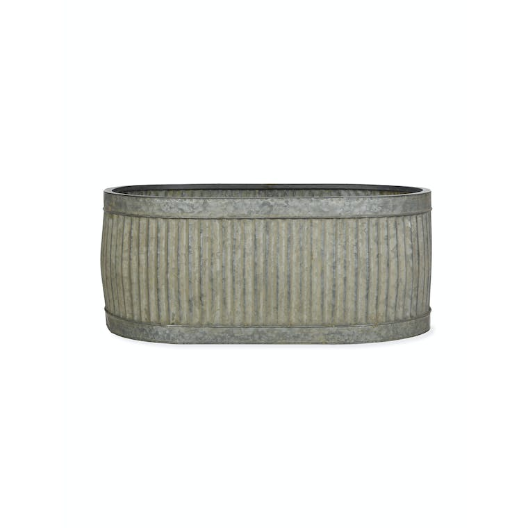 Steel Oval Vence Trough in Small, Medium or Large | Garden Trading