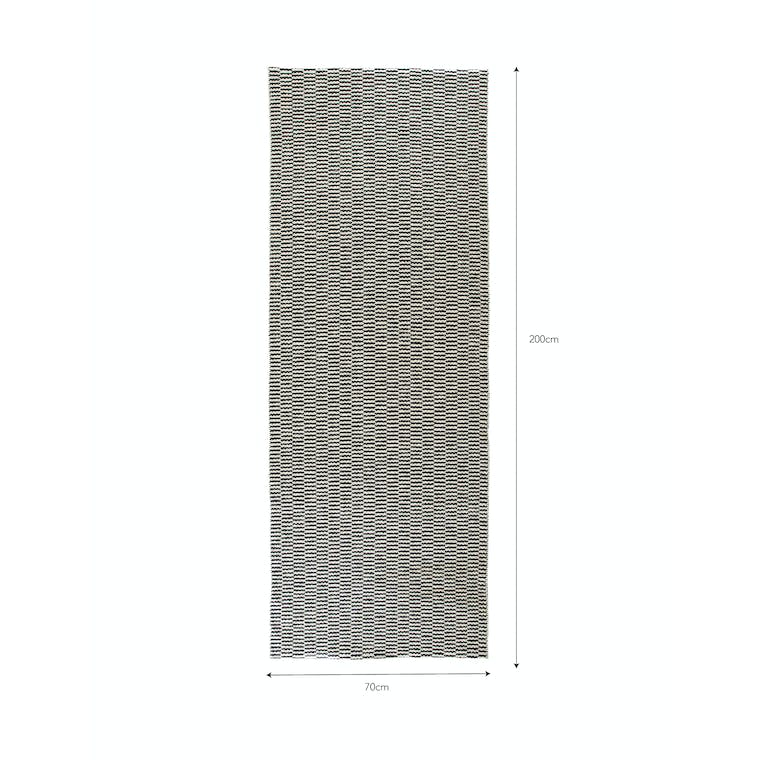 Outdoor Mat in Cream and Black in 100cm or 200cm | Garden Trading