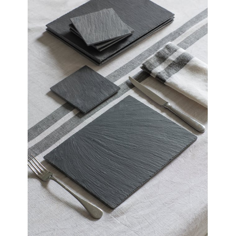 Slate Set of 4 Placemats in Rectangular | Garden Trading