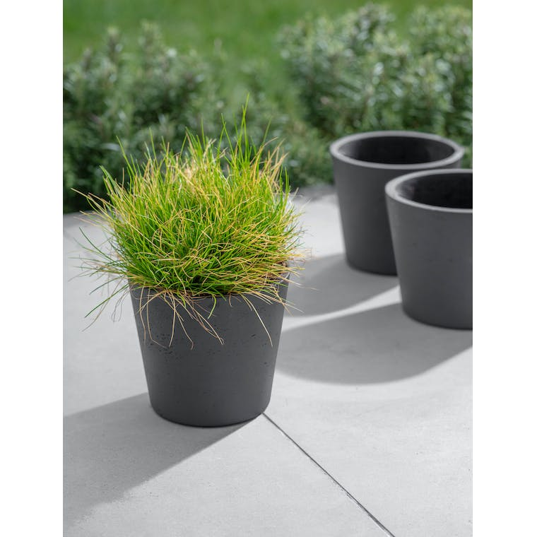Set of 3 Stratton Pots in Carbon by Garden Trading