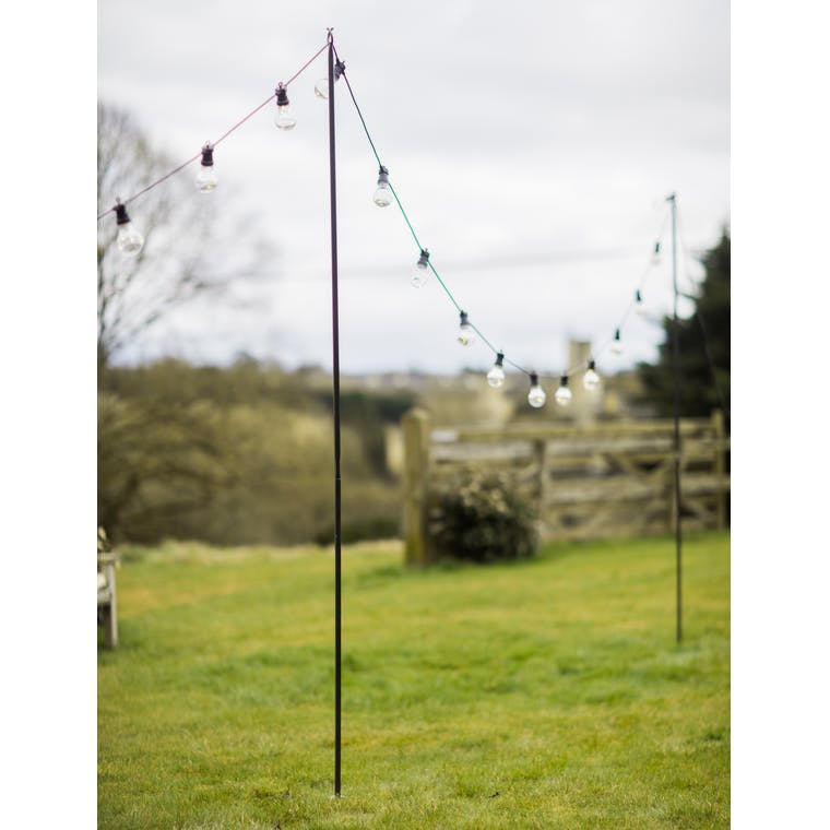 Raw Metal Festoon Pole | Garden Trading