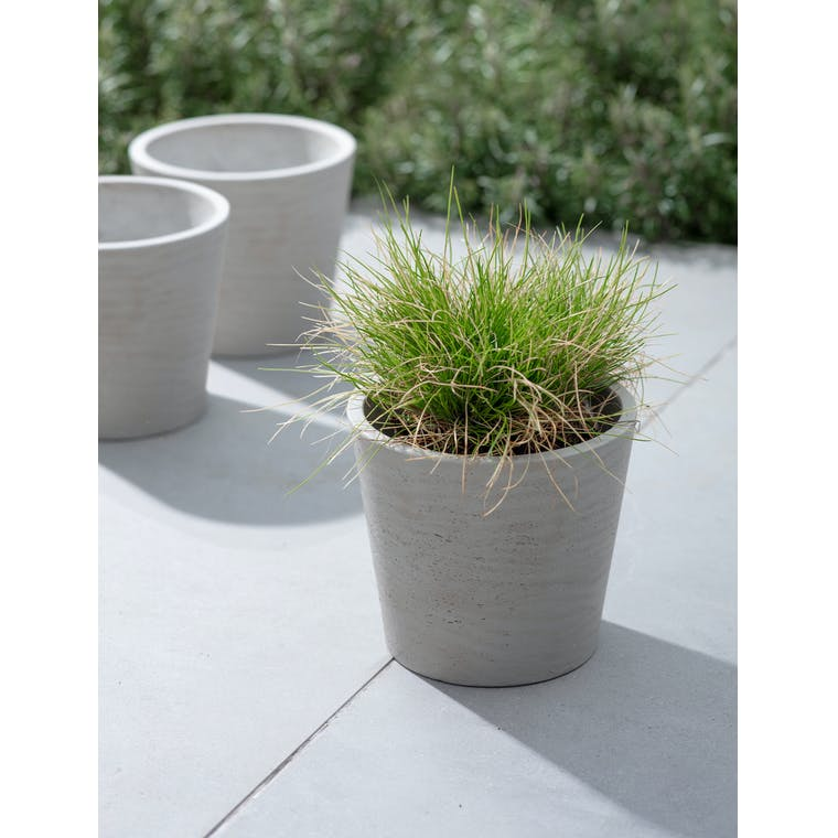 Set of 3 Stratton Pots in Stone by Garden Trading