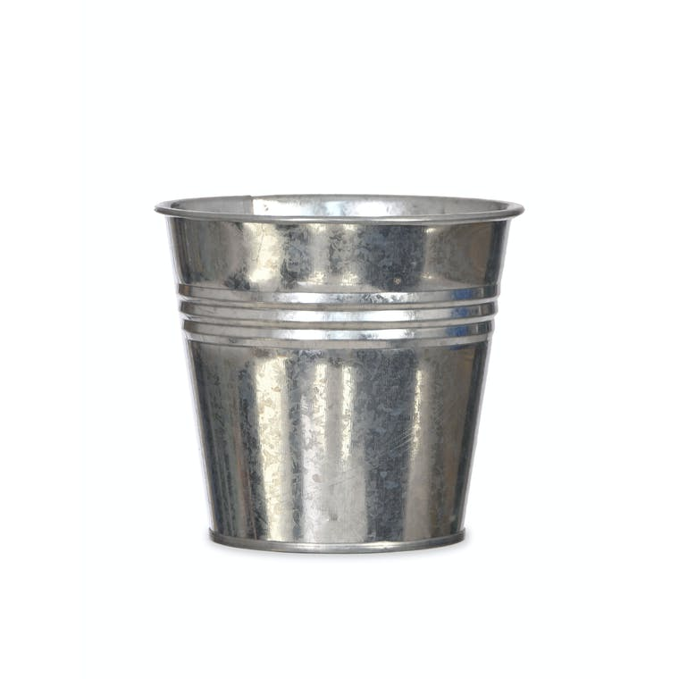 Galvanised Winson Plant Pot in Black or Silver | Garden Trading