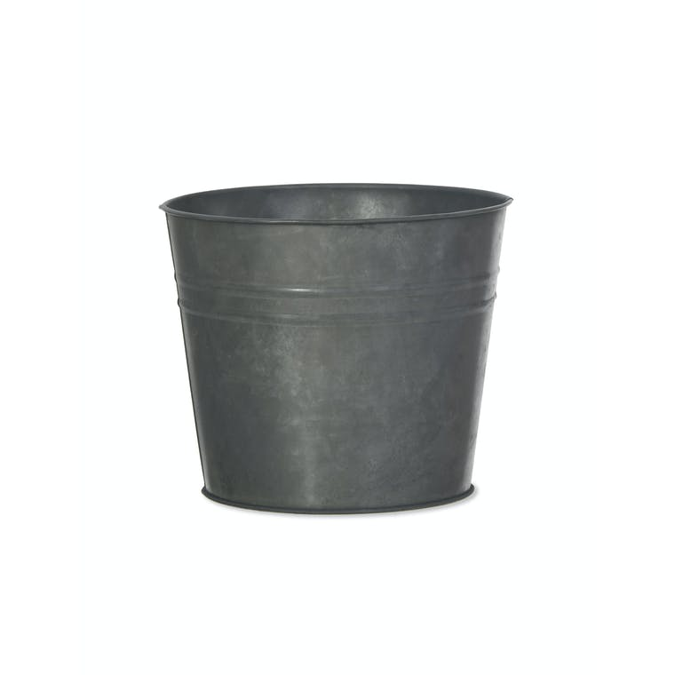 Galvanised Large Winson Plant Pot in Black or Silver | Garden Trading