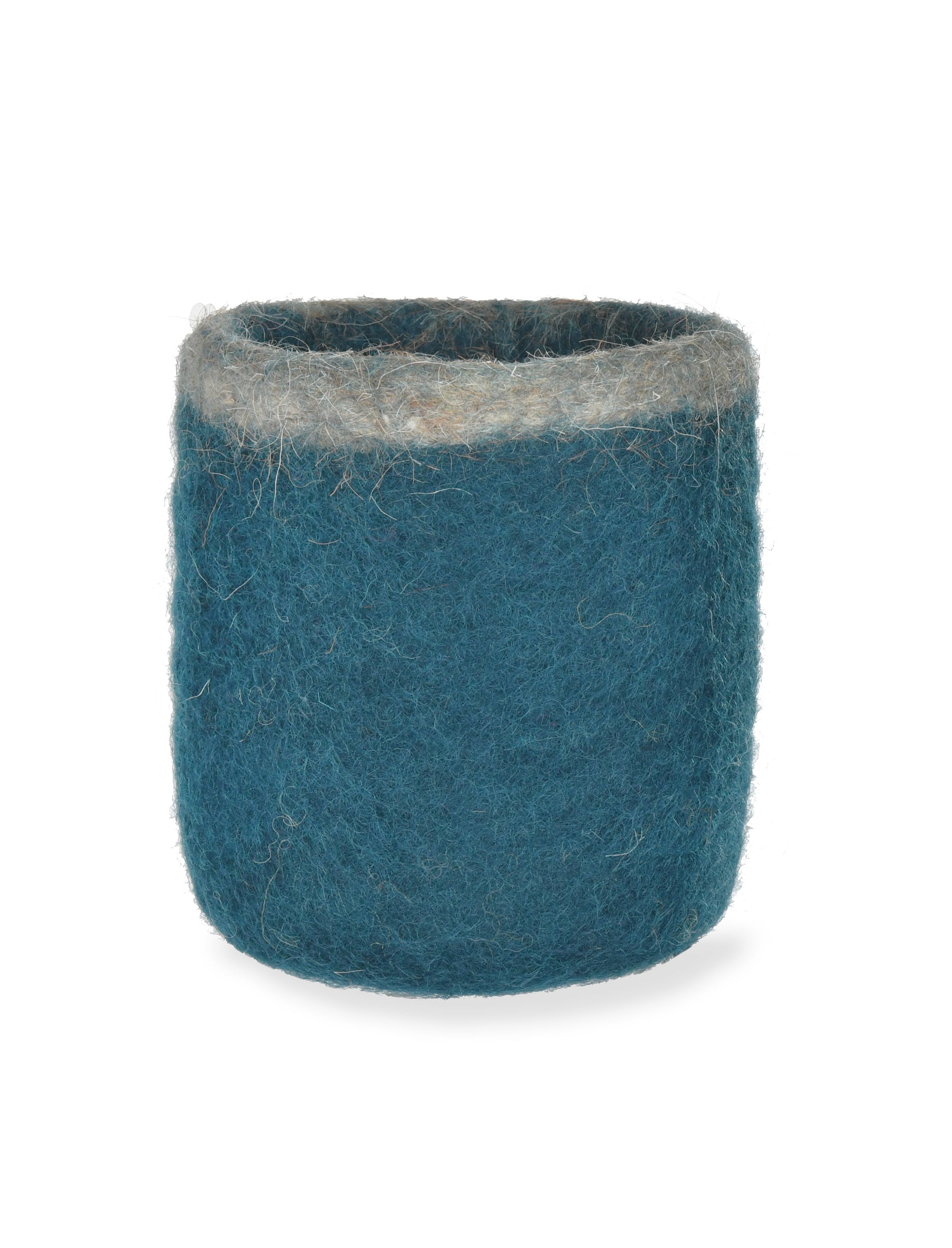 Fairtrade Felt Southwold Pen Pot in Teal | Garden Trading
