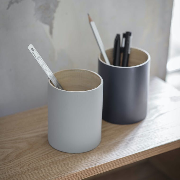 Bamboo Purbeck Pen Pot in Grey or Blue | Garden Trading