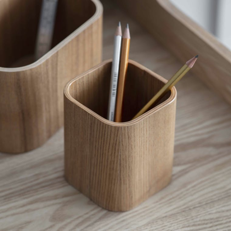 Wooden Brushfield Pen Pot | Garden Trading