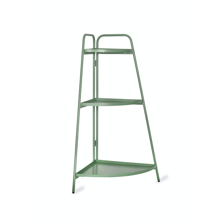 Steel Corner Plant Stand in Green or Grey | Garden Trading