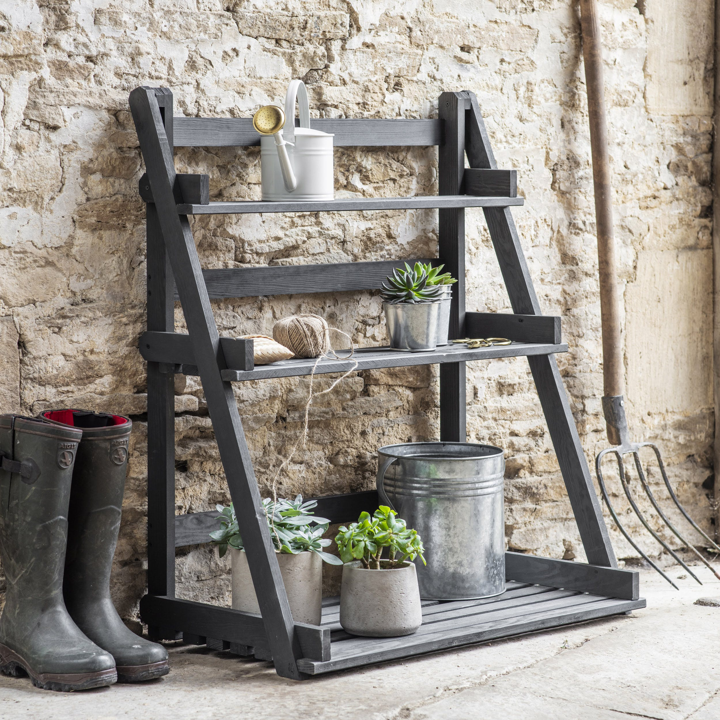 Wooden Latchmere Plant Stand   Garden Trading