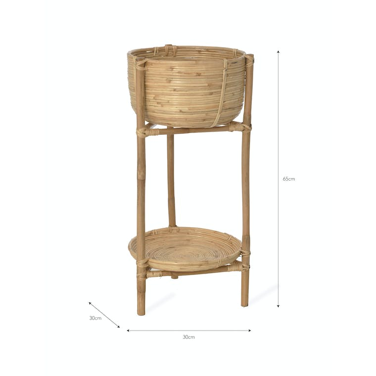 Rattan Mayfield Plant Stand | Garden Trading