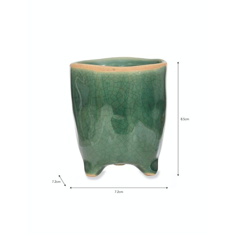 Green Positano Pot in Small, Large or Extra Large | Garden Trading
