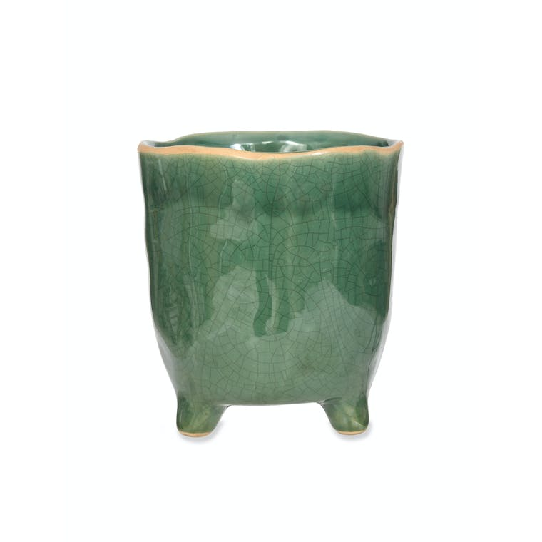 Green Positano Pot in Small, Large or Extra Large   Garden Trading