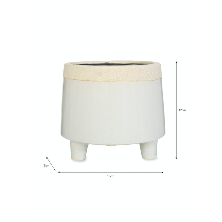 Ceramic Short Sherston Pot in Small or Large | Garden Trading