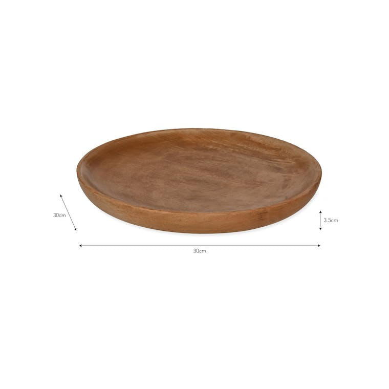 Wooden Midford Plate in Medium or Large | Garden Trading