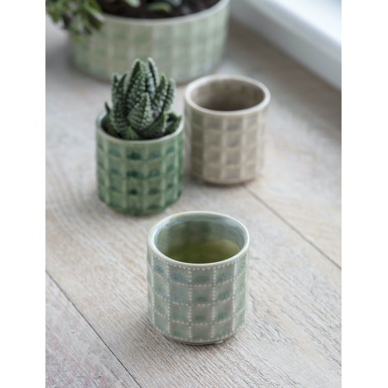 Garden Trading Sorrento Pot, Small in Sage - Ceramic
