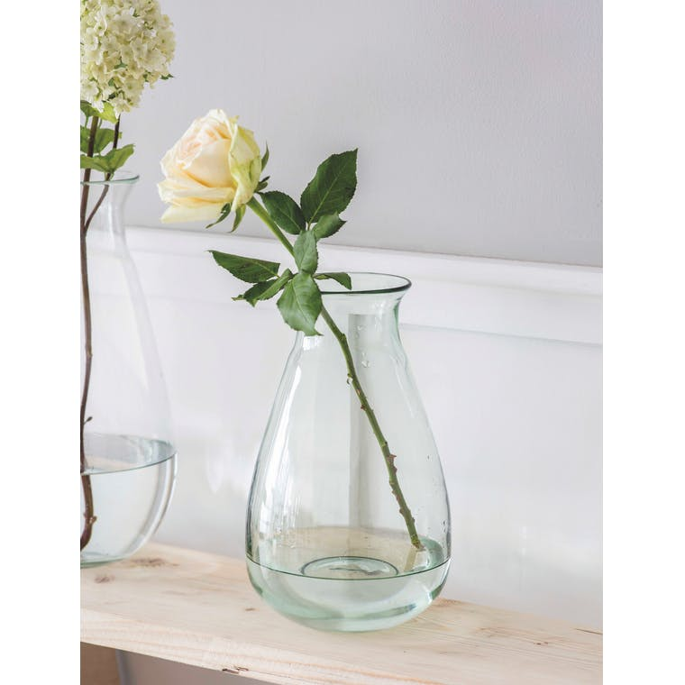 Recycled Glass Quinton Vase in Medium or Large | Garden Trading