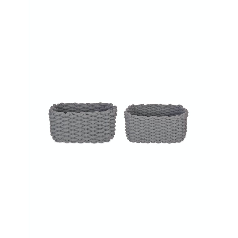 Cotton Set of 2 Chesil Rectangular Baskets | Garden Trading