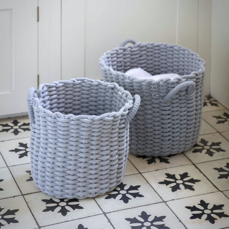 Cotton Set of 2 Chesil Round Baskets | Garden Trading