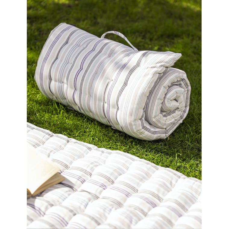 Cotton Roll Out Bed in Grey or Multi | Garden Trading