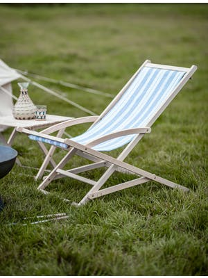 Striped Rocking Deck Chair