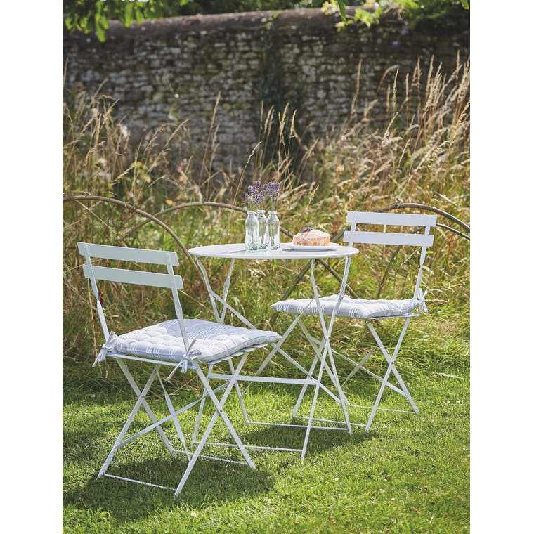 Garden Trading Rive Droite Bistro Set, Small in Chalk - Steel