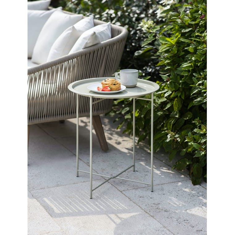 Garden Trading Rive Droite Bistro Tray Table in Clay - Steel